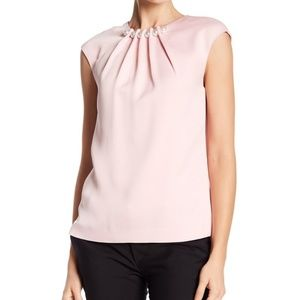 Ted Baker London Imitation Pearl Accented Blouse